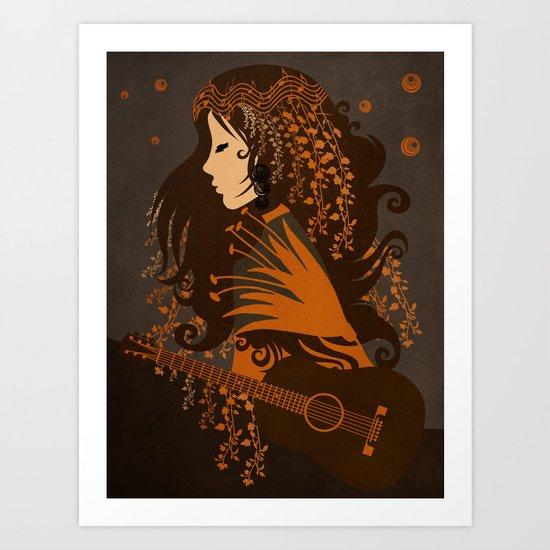 Mujer floral II Art Print