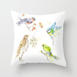 British Birds - Collection  Throw Pillow