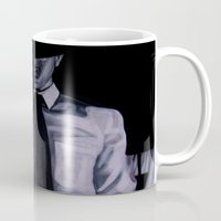 david fleck Mugs featuring DAVID by John McGlynn