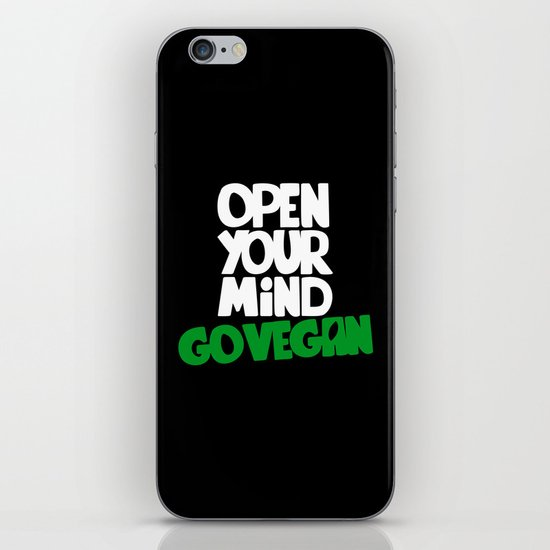 Open Your Mind Go Vegan iPhone Skin