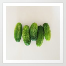 Pickling Cucumbers - CSA Series Art Print