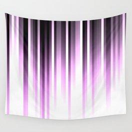 Ultra violet madness, dark shades lines print Wall Tapestry