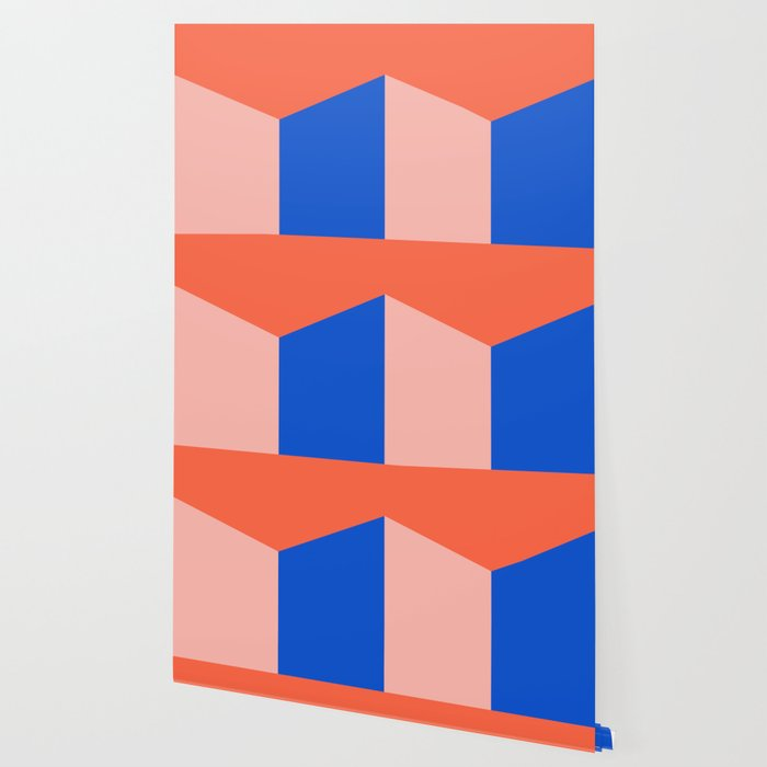 Blocked Coral Wallpaper