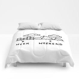 Week vs Weekend Comforters