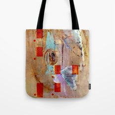 abstract in beige Tote Bag