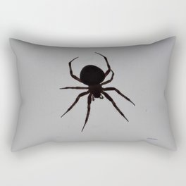 Orb Weaver Silhouette Rectangular Pillow