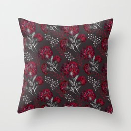 Red flowers. Throw Pillow