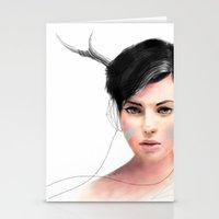 jenny liz rome Stationery Cards featuring Liz by J U M P S I C K ▼▲