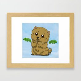 Fluffy Framed Art Print