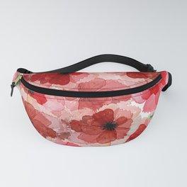 Pressed Poppy Blossom Pattern Fanny Pack