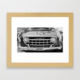 Rambler Black and White Framed Art Print