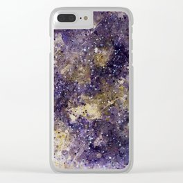 Writings in the Sky the Night Galaxy watercolor by CheyAnne Sexton Clear iPhone Case