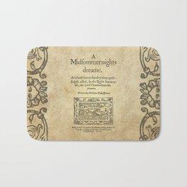 Shakespeare. A midsummer night's dream, 1600 Bath Mat