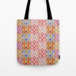Ikat Pattern Tote Bag