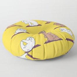 Poodle Yoga Floor Pillow