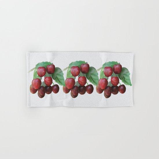 Sour Cherry, watercollor Hand & Bath Towel