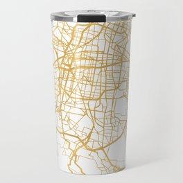 MEXICO CITY MEXICO CITY STREET MAP ART Travel Mug