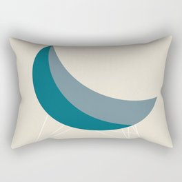 Blue Coconut Chair by George Nelson Rectangular Pillow