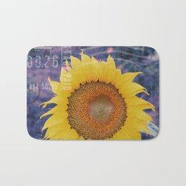 Tournesol Carte Postale - Sunflower Postcard Bath Mat
