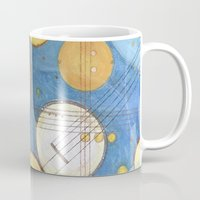kandinsky Mugs featuring doodling banjos by Beth Jorgensen