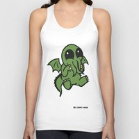 cthulu Tank Tops featuring Cute Cthulu  by Nikki Hung