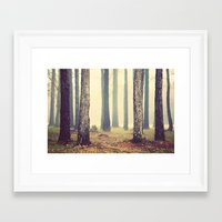 woods Framed Art Prints featuring Woods  by Slight Clutter