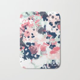 Hayes - abstract painting minimal trendy colors nursery baby decor office art Bath Mat