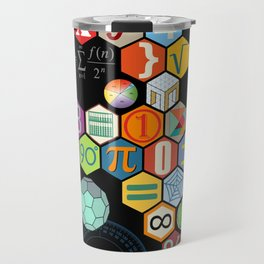 Math in color Black B Travel Mug
