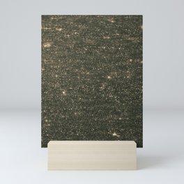 Golden Glitter Glitch Mini Art Print