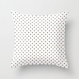Dots (Coffee/White) Throw Pillow