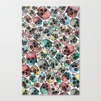 skulls Canvas Prints featuring Skulls by Devin McGrath
