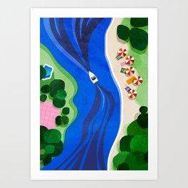 Cruising on a summer day Art Print