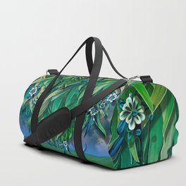 """Spring Forest of Surreal Leaf litter and flowers"" Duffle Bag"