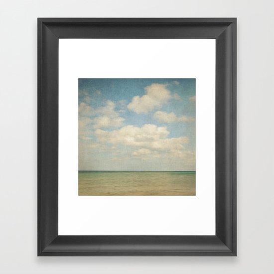 sea square III Framed Art Print