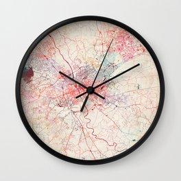 Columbia map South Carolina painting Wall Clock