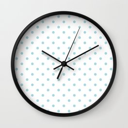 Wedding Garter Bue Polkadot Spots on Bridal White Wall Clock
