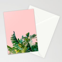 leaves on pink Stationery Cards