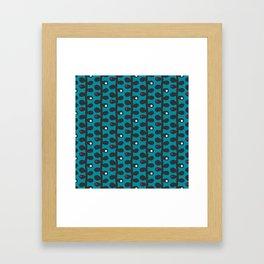 Like a Leaf [blue] Framed Art Print