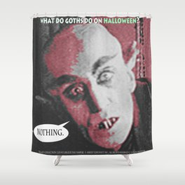 "'Count Orlock, the Vampire #2' from "" Nosferatu vs. Father Pipecock & Sister Funk (2014)"" Shower Curtain"