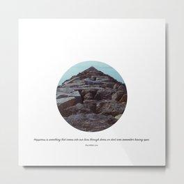 Happiness Quote - Rose Wilder Lane Metal Print