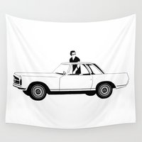 car Wall Tapestries featuring Car by wreckthisjessy