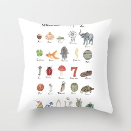 Good Luck from A - Z Throw Pillow