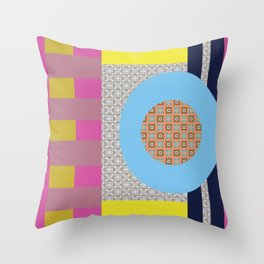 Mix n Match with Circle Throw Pillow