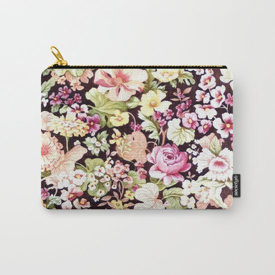 Floral Pattern in Bloom (Bright Flowers) Carry-All Pouch