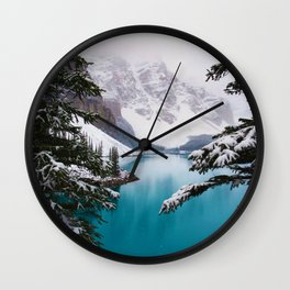 Paradise in the Mountains (Color) Wall Clock