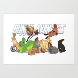 bunny 'vengers Art Print