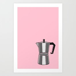 Greca on Pink Art Print