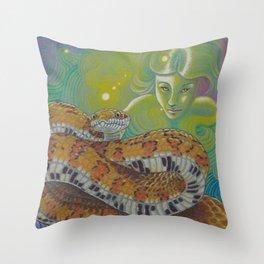 Serpent Goddess, Fantasy Snake Art Throw Pillow