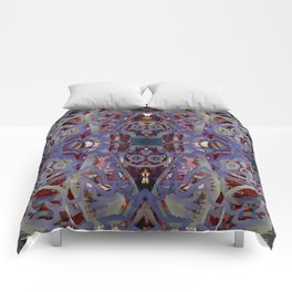 Skulls Purple Rouge Comforters