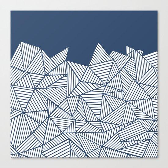 Abstract Mountain Navy Canvas Print